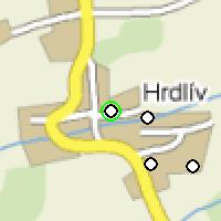 Umístění vysílačů bezdrátového internetu pro lokalitu hrdliv-pelan v obci Hrdlív