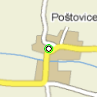 Umístění vysílačů bezdrátového internetu pro lokalitu postovice v obci Poštovice